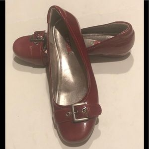 Ecco Red Patent Leather Ballet Flats Sz 39